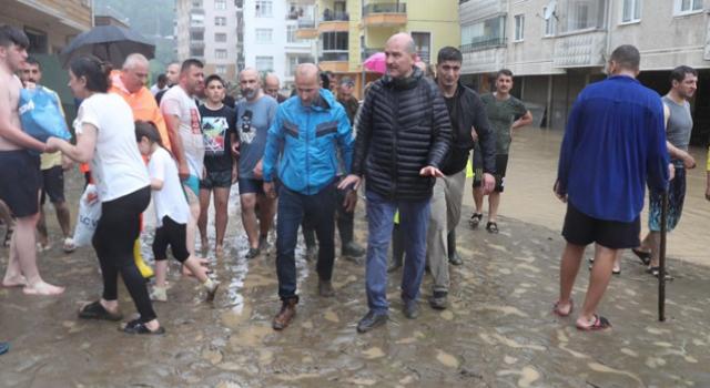 Bakan Soylu'dan Rize ve Artvin'deki sel felaketiyle ilgili açıklama