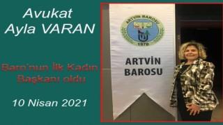 Ayla Varan,Artvin Barosu'nun İlk Kadın Başkanı Oldu
