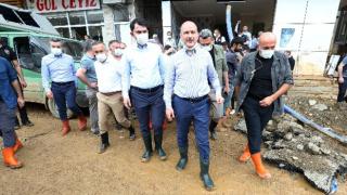 Rize'de afet bölgesindeki incelemeler sürüyor