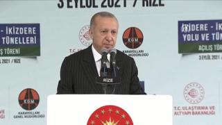 Cumhurbaşkanı Recep Tayyip Erdoğan İkizdere'de Tünel Açılış Töreni'ne katılıyor