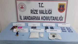Rize'de uyuşturucu operasyonunda 2 şüpheli gözaltına alındı